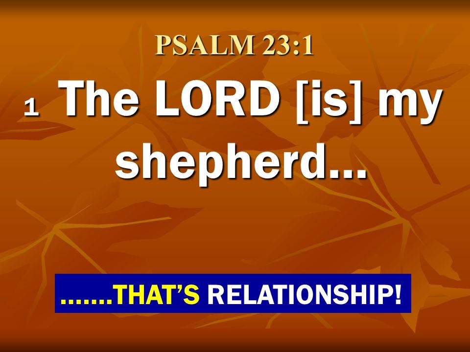 1 The LORD [is] my shepherd...